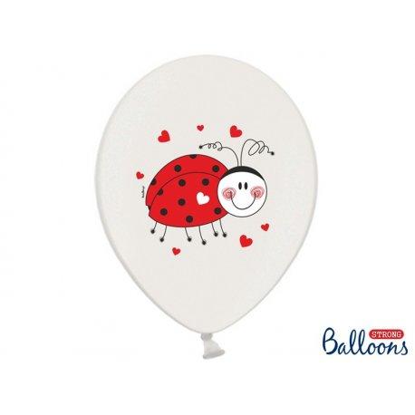 Balon lateksowy 30 cm - Biedronki, lateksowy