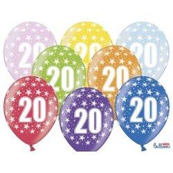 Balon 30cm Dwudziestka - lateksowy, różne kolory