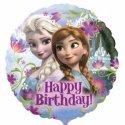 Balon Happy Birthday - Elza i Anna z Krainy Lodu