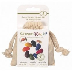Kredki Crayon Rocks 8 kolorów w bawełnianym woreczku