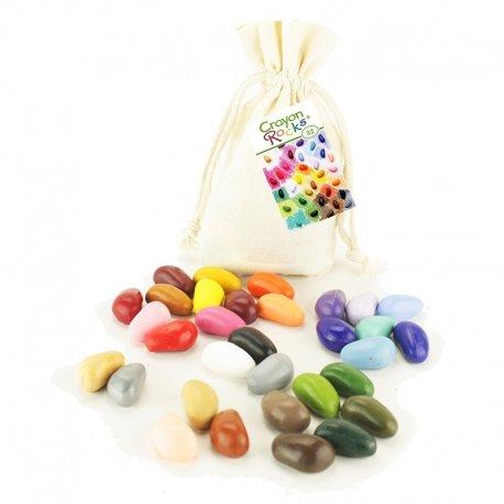 Kredki Crayon Rocks 32 kolory w bawełnianym woreczku