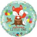 """Balon foliowy, okrągły 18"""" z okazji narodzin - Welcome little one"""