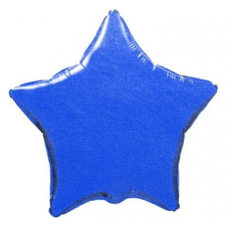 """Balon foliowy niebieska gwiazda 18"""" napełniony helem"""
