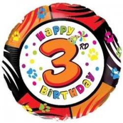 """Balon foliowy 18"""" Happy Birthday 3rd"""