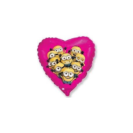 """Minions - balon serce 18"""" napełniony helem"""