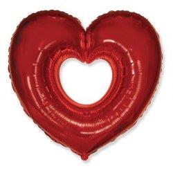 Balony w kształcie serca oraz z nadrukiem serca.