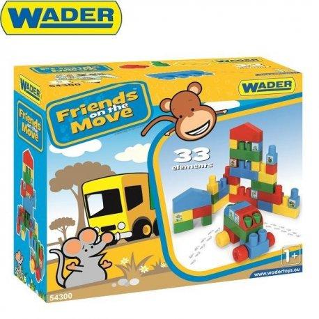 Wader 54300 - Klocki Baby 33 el.