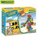 Wader 54300 - Klocki Baby - Friends on the Move