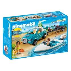 Zestaw Playmobil 6864 - Surfer - Pickup z Motorówką
