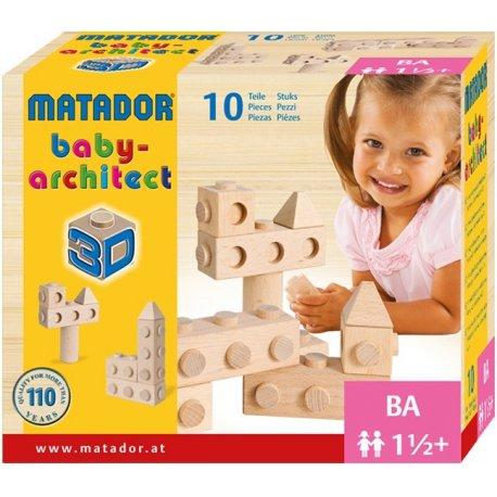 Matador Babyarchitect 10 - drewniane klocki konstrukcyjne