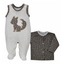 Komplet niemowlęcy, gładki OX - bluzeczka i śpioszki