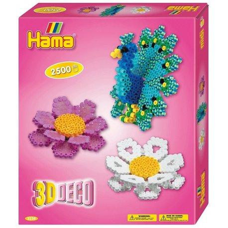 Hama midi 3238 - Kwiaty i paw 3D