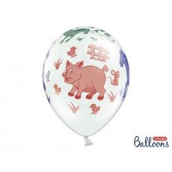 Balon lateksowy 30cm - Farma, Pastel White