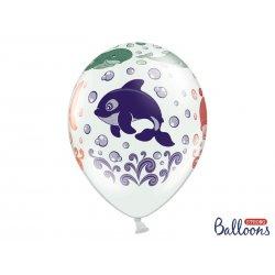 Balon lateksowy 30cm - Ocean, Pastel White