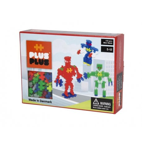Klocki Plus Plus - Mini neon 170szt - Roboty