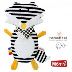Termofoxi biało-czarny - Z pestkami wiśni - Hencz Toys