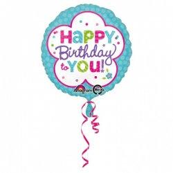 """Balon foliowy 17"""" Happy birthday to You"""