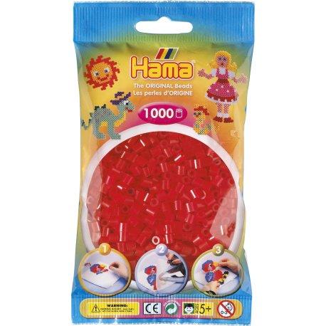 Hama 207-13 - Kolor czerwony transparentny - 1000szt