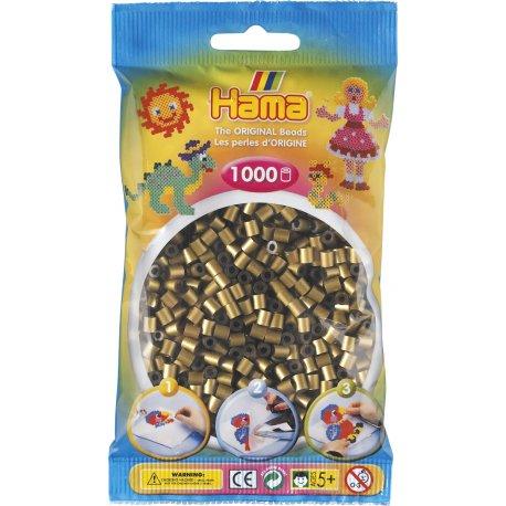 Hama 207-63 - Kolor ciemnozłoty - 1000 szt midi
