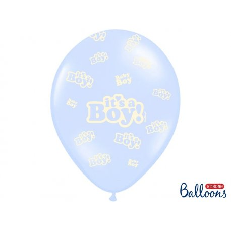 Balon lateksowy 30 cm - It's a boy - niebieski