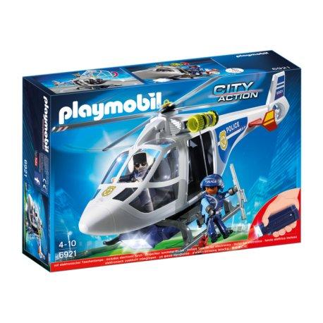 Playmobil 6921 - Helikopter policyjny z reflektorem LED
