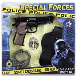 Pistolet na kapiszony Policyjny + Akcesoria GONHER 425/6