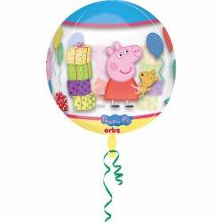 Świnka Peppa 40 cm - balon foliowy transparentny
