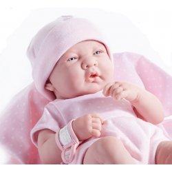 Lalka La Newborn dziewczynka w różowym ubranku z kocykiem