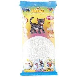 Hama 205-01 - Koraliki białe midi 6000 szt w woreczku