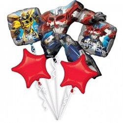 Bukiet balonów foliowych Transformers - Zestaw 5 balonów