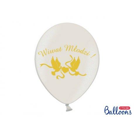 Balon lateksowy 30cm - Wiwat Młodzi - Pastel White
