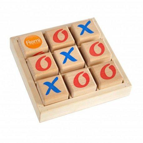 Drewniana gra kółko i krzyżyk