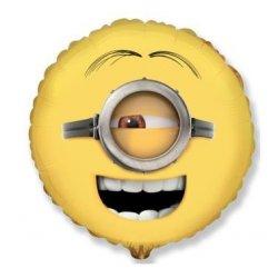 Minion Stuart - Balon foliowy - okrągły - 45 cm