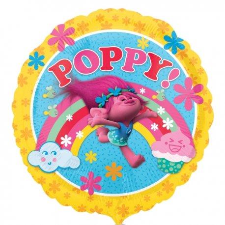 """Balon foliowy 17"""" Poppy z bajki Trolle"""