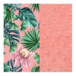 Koc Picnic z kieszonką, jungle peach coral, La Millou