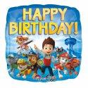 Psi Patrol Urodzinowy Balon Foliowy - 43cm - Happy Birthday