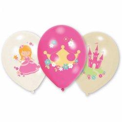 """6 balonów Księżniczki (Princess) - 11"""" 27,5 cm - balony lateksowe"""