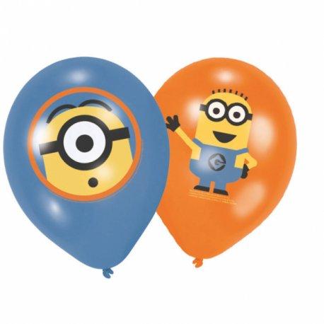 """6 balonów Minionki- 11"""" 27,5 cm - balony lateksowe"""