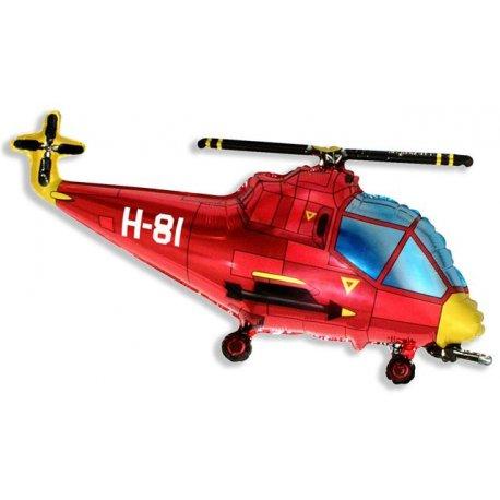 """Balon foliowy 24"""" FX - """"Helikopter"""" (czerwony) - 61 cm"""