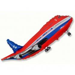 """Balon foliowy 24"""" FX - """"Samolot"""" (czerwony) - 61 cm"""