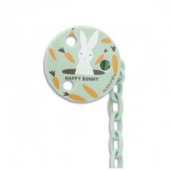 Okrągły Klips do Smoczka Happy Bunny - Suavinex