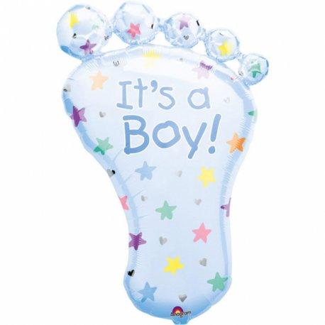 Balon w kształcie stópki - narodziny chłopczyka