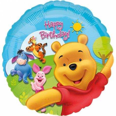 """Urodzinowy balon foliowy 17"""" - Kubuś puchatek"""