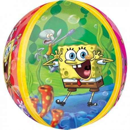 SpongeBob - okrągły, balon foliowy 38x40 cm