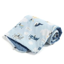 Kocyk Velvet Cotton - Captain adventure, denim - La Millou