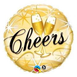 """Balon foliowy 18"""" Cheers, kieliszki do szampana"""