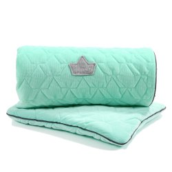 Pościel Velvet Collection - blanket and mid pillow, mint - La Millou
