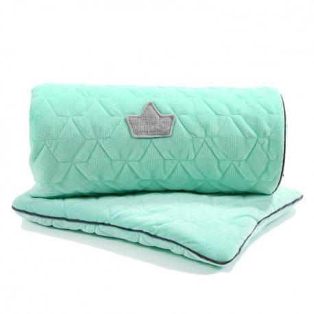Pościel Velvet Collection - blanket and mid pillow, mint - La Millou