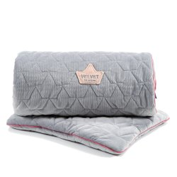 Pościel Velvet Collection - blanket and mid pillow, dark grey - La Millou