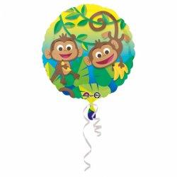 """Balon foliowy 17"""" Wesołe Małpki"""